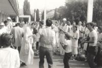 Na Pochodu míru a tolerance (srpen 1989)
