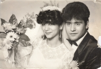 Elena a Bohuš Gorolovi, svatba, rok 1987