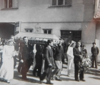 Funeral of the cousin, Jan Jirauch on May 11, 1945 in Vranová Lhota