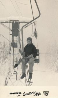 1967 Špindlerův Mlýn, před vrcholovou stanicí na Pláních