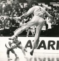 1990, Mistrovství světa v házené v Československu, fotka ze zápasu ČSL : FRANCIE 21:21