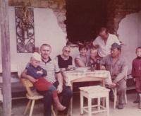 Visiting the family of Wanka