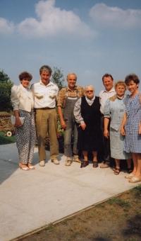 Visiting his German friends