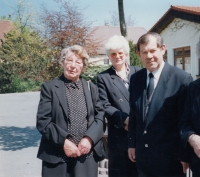 German friends at a funeral in Germany (1999)