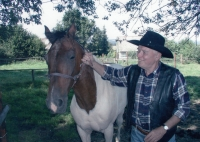 Gustav with a horse