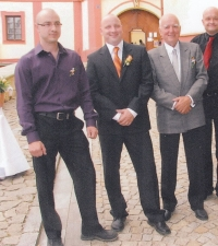 Father and sons at Jiří's wedding (year 2008)