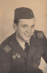Gustav as a soldier (in 1957)