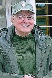 Gustav Černý as a guide in Konstantinovy Lázne (year 2013)