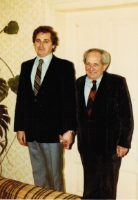 Pavel Taussig with his father Rudolf, Zábřeh 1979