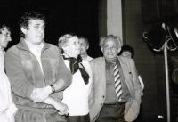 "Pavel Taussig with his parents visiting the Film Festival ""The Laughter of Karel Poláček"", Rychnov nad Kněžnou 1988"