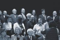 Rok 2018, Praha, Václav Žufan na udělení vyznamenání (vpravo nahoře)
