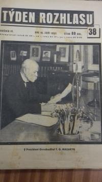 Titulní stránka novin z roku 1937 z archivu pamětníka