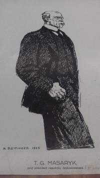 Obrázek prezidenta T. G. Masaryka z archivu pamětníka