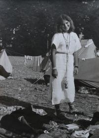 Eva Kučerová na pouti v Čenstochové