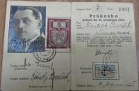 Legitimace Československých státních drah otce pamětníka