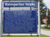 Informační tabule na staré cestě ze Sohlandu do Lipové (Hainspach)