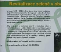 Informační tabule v Lipové