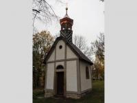Renovovaná kaple v Liščí zepředu