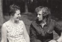 S bratrem Petrem, asi 1970