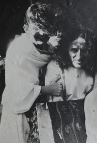 Svatební fotografie Oldřicha a Evy Kučerových