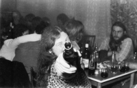 V hospodě Čtverka, Uničov, 1983