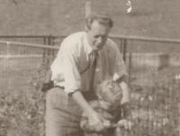 Otec Rudolf s malou Blankou