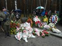 Památník velkého útěku - pomník po konci pietního aktu.