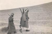 Příslušníci pouštní stráže v Palestině