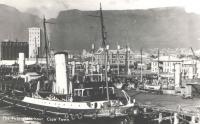 Prázdná pohlednice na památku – rybářský přístav v Kapském Městě