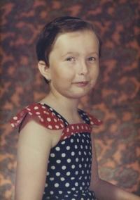 Iveta asi ve věku šesti let