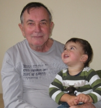 With grandson