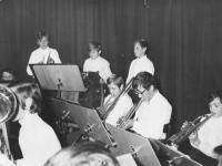 Na fotografii druhý zprava při hře na trumpetu v Základní umělecké škole v Humpolci