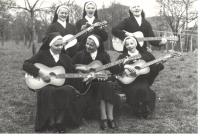 Junior Sisters, 1972 at Velehrad (Marie sitting 1st on the left)