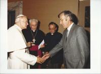 Setkání Františka Reichela s papežem Janem Pavlem II.