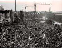 Návštěva prezidenta Ludvíka Svobody v Plzni a ve Škodových závodech 11. 9. 1968