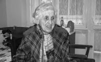 Sylva Jarošová, matka pamětníka, snímek z roku 2016