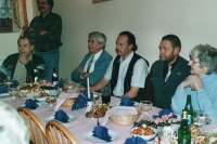 Meeting of the Civic Democratic Party in Přeštice, 1990's (Oldřich Váca, second from the left)