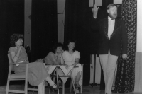The Beggar's Opera, performed by the theatre group Lužany, 1988 (Oldřich Váca on the right)
