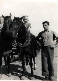 Josef Davídek v létě roku 1953
