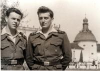 Josef Davídek na vojně v roce 1956