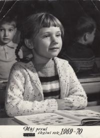 School portrait, first grade, 1969-1970