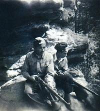 Karel Pavlů a Miroslav Šír ve Stráži, rok 1945