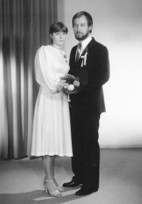 S manželkou Jaroslavou rozenou Benešovou na svatební fotografii