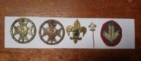 Skautské odznaky oddílu Legio Angelica Bořivoje Raka
