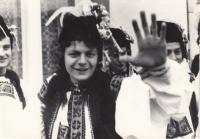 Jan Schejbal na folklorních slavnostech na Moravě, 1980