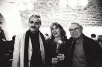 Monika s ministrem kultury Pavlem Dostálem a spisovatelem Pavlem Kohoutem