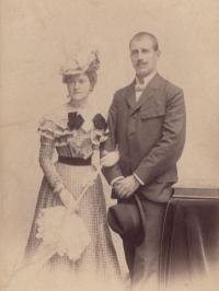 Zásnuby Marie Tillerové a Františka Šolína (1899)
