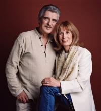 Monika Švábová se svým manželem Pavlem Pavlovským na fotografii z roku 2005