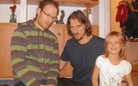 Synové Šimon a Pavel s Pavlovou dcerou