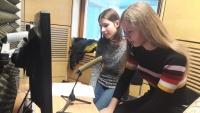 Nahrávání audioreportáže o životě paní Evaldové